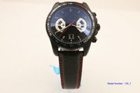 Wholesale Dlc Pvd - LUXURY NEW IN AAA QUALITY AUTO CALIBRE 17RS BLACK PVD DLC MEN'S AUTOMATIC MECHANICAL DATE WATCH LEATHER CORDAGE MENS MOVEMENT WRISTWATCH