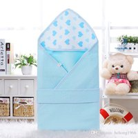 Wholesale cotton quilt coverlet resale online - Newborn Coverlet Infant Blanket Wrap Thin Coated Scarf Pure Cotton Quilt Baby Bag Soft Cloak Towel Hot Sale yf F R