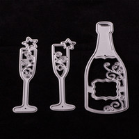 Wholesale Snowflake Wine - Cutting Dies DIY Carbon Metal Cutting Dies 5 Styles To Choose Love Bottle Butterfly Snowflake Decoration Metal Template Molds-Wine Bottle