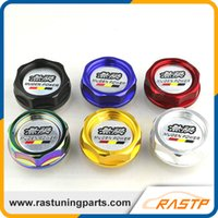 Wholesale Red Engine Oil - RASTP - Mugen Power Oil Cap Racing Engine Tank Cover for Honda Acura Black Red Gold RA-CAP003