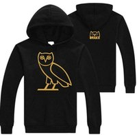 Wholesale S Owl - Autumn and Winter Cotton Plus Cashmere Hoodie OVOX Owl Pattern Men Pullover Sweatshirt