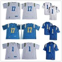 Wholesale College Football Games - Custom 2017 UCLA Bruins College Football #17 Jackson Gibbs DeChaun Holiday #1 Darnay Holmes Soso Jamabo Stitched Game Men blue white Jerseys