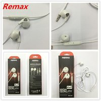 Wholesale Ear Plugs For Mobile - New REMAX RM-607 3.5mm Plug Stereo Earphone Pure Music Handfree Wired Headset Earphone Wires Earbuds with Microphone For all mobile