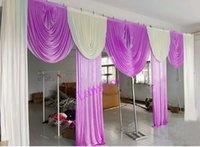 Wholesale hot pink curtains - 3M high*6M wide swags for backdrop curtain party background valance wedding backcloth stage curtain (10ft*20ft) funeral backdro