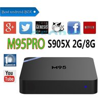 Android 3d Video Kaufen -Amlogic S905X 2gb 8gb Android Smart TV Box Quad Core M95PRO 4K Video Streaming Media Player Unterstützung 3D Blu-ray-Set Top-Box