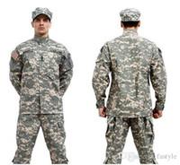 Wholesale Acu Bdu - Wholesale-BDU ACU Camouflage suit sets Army Military uniform combat Airsoft uniform -Only jacket & pants