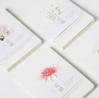 Wholesale Note for flowers brief notebook pages blank sheets sketchbook gift four designs