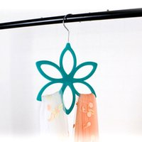 Wholesale Wholesale Plastic Slips For Clothes - 500pcs Velvet hangers for clothing hexagon Scarf hanger Non-slip Circle tiehanger Multifunction Storage rack ABS Flocking hanger