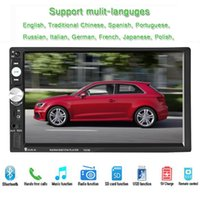 Wholesale Menu Screens - New 2 Din 7'' inch HD Touch screen car radio player support multi-Languages Menu BLUETOOTH hands free rear view camera car audio
