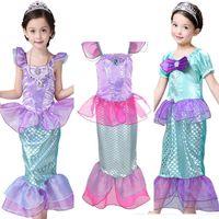 çocuk mermaid cadılar bayramı kostümü toptan satış-