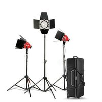 Pro Red Head dimmerabile luce continua 800w * 3 borsa KIT + supporto luce + lampadina per studiovideo 3200k luce rossa