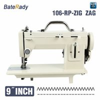 Wholesale Sewing Machine For Leather - 106-RPZ 9inch arm fur,leather,fell clothes thicken sewing machine,reverse stich and ZIG ZAG function,110V 220V for long version