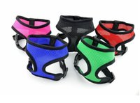 Wholesale Nylon Pet Dog Mesh Harness Soft Net Vest Adjustable Breathable Puppy Harness Dog Colors XS S M L XL