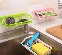 Wholesale Suction Cup Storage Shelf - Double Suction Cup Kitchen Drainage Shelf Multifunctional Dishwashing Sponge Storage Rack