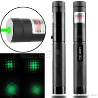 Wholesale High Powered Laser Pointer Green - High Power 532nm Laser 303 Pointers Adjustable Focus Burning Match Laser Pen Green Safe Key Without Battery And Charger Free Shipping