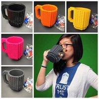 Wholesale Diy Blocks Pcs - DIY Block Puzzle Mug Building Blocks Mugs Creative Assembled Decompression Mug Coffee Drinkware 12oz DHL free DHG41