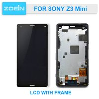 LCD di qualità AAA Touch Screen digitizer display per Sony Xperia Z3 mini compatto D5803 D5833 LCD + Frame Assembly
