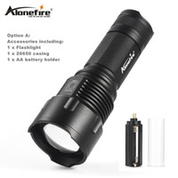 Wholesale 3x zoom - AloneFire X980 LED Flashlight 26650 Zoom Torch Waterproof T6 2000LM 3 Mode Light For 3x AA or 3.7v 26650 Battery