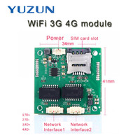 Wholesale Double Sim 3g - Double dual ethernet network interface net port 3G 4G WiFi module gsm router board with sim card slot