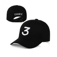 Популярный певец Chance The Rapper 3 Chance Cap Black Letter Embroidery 3D Бейсбольная кепка Hip Hop Snapback Hats