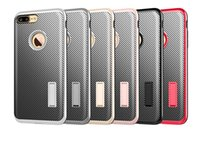 Para iPhone7 Hybrid Armor NEO Twill TPU PC Stand caso para iPhone 5 SE 6 6S 7 mais Samsung Galaxy S6 S7 borda Note5 Grand Prime G530 Huawei P9