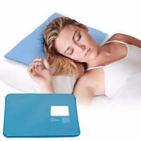 kühlkissenauflage großhandel-Großhandels-1PC Sommer-Chillow-Therapie-Einsatz-Schlafmittel-Auflage-Matte-Muskel-Entlastungs-kühlendes Gel-Kissen-Eis-Auflage Massager