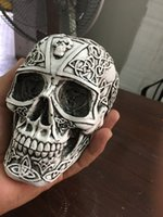 Wholesale Small People Model - small Skull model theme interior decoration resin skull hall holy holistic medical mold halloween party craft decor for bar restaurant