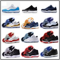 Wholesale Basket Fashion Men - 2018 new FASHION 11 basketball shoes cheap sport shoes black&red Velvet Heiress sneaker space jam low Barons 72-10 Gym Red Wheat bred