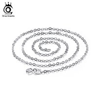 Wholesale Wholesale Acrylic Jewel Necklace - ORSA JEWELS Fashion Lobster Clasp Adjustable Simple Necklace Chains, Lead & Nickel Free 925 Sterling Silver Necklaces Chain SC06