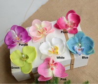 Wholesale Butterflies Decoration For Weddings - 30PCS Silk Butterfly Orchids Artificial Flowers Head Orchid Arrangements for Wedding Car Home Decoration Mariage Flores Cymbidium Flowers