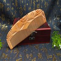 fabricantes de peines de madera al por mayor-Pedestal de caoba de madera natural riqueza auspiciosa regalos artesanales fabricantes que venden una variedad de venta por mayor