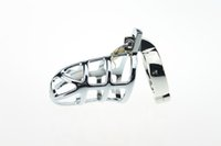 Wholesale Male Chastity Device Cb - Chastity Cages Stainless Steel cb Male Chastity Device With Storage Bag Lockable Fetish Male Chastity Belts SM Sex Toys