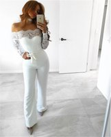 Wholesale Casual Strapless Black Jumpsuit - 2017092221 Sexy Long Sleeve Strapless Hollow Out Women Summer Jumpsuit 2017 Solid Color Female Straps Patchwork Rompers Overalls