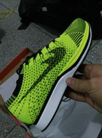 Wholesale Photo Running - With Box Top Quality Unisex Fly Racer Running Shoes For Women & Men, Lightweight Breathable Athletic Outdoor Sneakers Eur 36-45 (Real Photo)