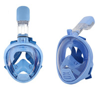Wholesale Girls Equipment - Wholesale- Kids Full Face Snorkeling Diving Mask Children Size Anti Fog Snorkel Sucba Study Swimming Equipment mergulho Boy Girl Masker