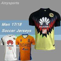 Wholesale Wholesale Jersey S America - DHL-2017 New MX Club America soccer Jerseys 100 years home away Third Green Centenario Pink 17 18 SAMBUEZA P.AGUILAR football shirt