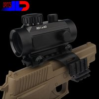 Wholesale Moa Rifle Scopes - Optics Sight 1X45 5 Brightness for Diverse MOA Illuminated Red Green Dot tactical Pistol and Rifle Scope for Picardine Free shipping