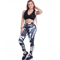 Wholesale Sexy Leggins For Plus - Wholesale- Plus Size 3d Printed Sexy Leggings high Waist Sporting Leggings Push Up Workout Clothes For Women Fitness Feminino Leggins Mujer