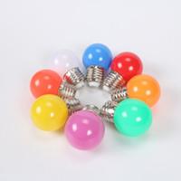 ingrosso 3w globo colorato rgb principale-Whosales lampadine principali E27 B22 Globe luci di lampadine 3W SMD2835 LED lampadine colorate lampadina di Natale a risparmio energetico della luce 110V 220V
