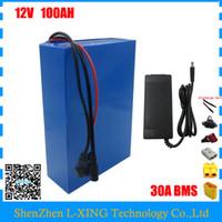 Wholesale Li Ion 12 Battery - High quality 350W 12V 100AH battery 12 V 100AH Lithium ion battery for 12V 3S Li ion Battery with 5A charger EU US no tax