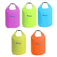 Wholesale outdoor waterproof rafting bag resale online - Drifting Bags Portable Outdoor Swim Waterproof Backpack Camping Rafting Storage Drying Bag With Adjustable Strap Hook Light Weight ls F