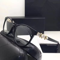 Wholesale Plastic Optical Lens - 4547 Luxury Fashion Women Brand Designer Popular Glasses Optical Lens Cat Eye Full Frame Black Tortoise Brown Come With Case