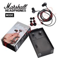 Wholesale Headphone Sport Fashion - Fashion Marshall MODE Headphones In Ear Headset Black Earphones With Mic HiFi Ear Buds Sports Headphone Universal for iPhone 7 Samsung S8