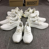 Wholesale Cycling Shoes Wholesale - Y 350 Boost V2 Triple Cream White Core Black Red Mens Shoes CP9654 Zebra Sneakers Size 5-12