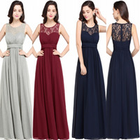 Wholesale formal dresses for weddings guests resale online - Country Cheap Bridesmaid Dresses for Wedding Long Chiffon A Line Formal Dresses Modest Maid Of Honor Wedding Guest Party Gowns CPS614