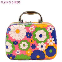 Wholesale fly display - Wholesale- FLYING BIRDS women cosmetic cases Capacity Large Cosmetic Bags Box Makeup Bag Beauty Case Travel Jewelry Display Case LM3603fb
