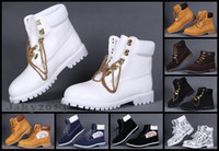 Wholesale Men Shoes Work Boots - Winter Snow Boots Brand Mens Tims Boot Leather Waterproof Work Outdoor Shoes Casual Hiking Shoes Leisure Ankle 30 Colors Classic 10061