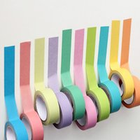 Wholesale 2016 Writable Rolls Paper Washi Masking Tape Rainbow Colours Sticky Adhesive