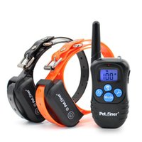 Wholesale Dog Electronic Remote Collars - Pet LCD displays training collar Rechargeable and Rainproof 330yd Remote Dog Shock Collar with Beep, Vibration and Shock Electronic Collar