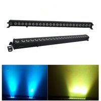Wholesale Dmx Led Rgb Wall Washer - Led Wall Washer Light 24x3W RGB 3IN1 Led Wall Wash Lights Running Funtion Dmx Bar For Dj Disco Party Show Effect Stage Projector